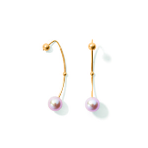 Line&Jo Earrings  PEARLMISS ERMIONE gold pink pearl