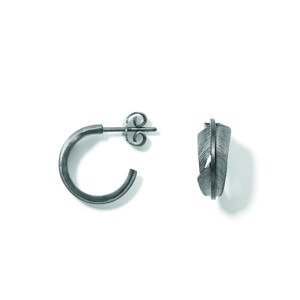 Line&Jo Earrings  FEATHERMISS EROY grey