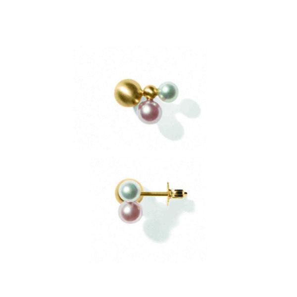 Line&Jo Earrings  PEARLMISS ESA gold pearl