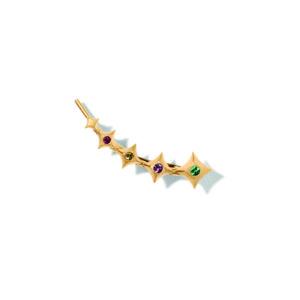 Line&Jo Earrings  SPIREMISS ETOILE ONE gold sapphire