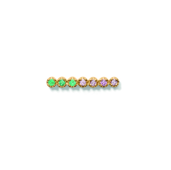 Line&Jo Earrings  TUTTI FRUTTIMISS EXPA7 gold light pink sapphire + green emerald