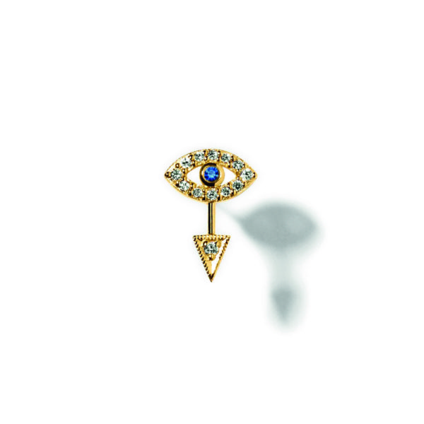 Line&Jo Earrings  RAY OF EYESMISS EYE gold diamond sapphire