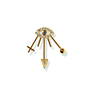 Line&Jo Earrings  RAY OF EYESMISS EYLIE gold diamond sapphire