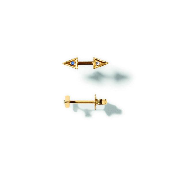 Line&Jo Earrings  RAY OF EYESMISS EYO gold diamond sapphire