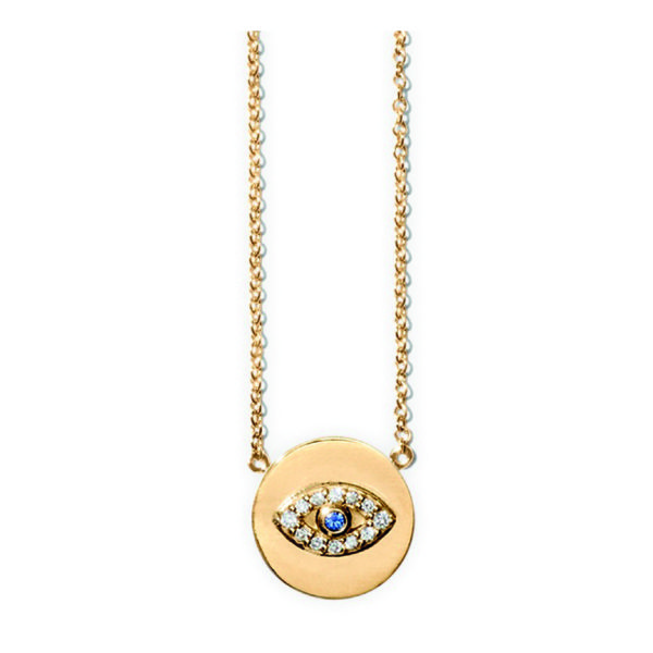 Line&Jo Necklaces  RAY OF EYESMISS NEE gold diamond sapphire