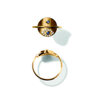 Line&Jo Rings  RAY OF EYESMISS RE gold diamond sapphire