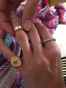 Unspoiled Jewels Rings  Singet RingsIsrael 14 Karat Gold