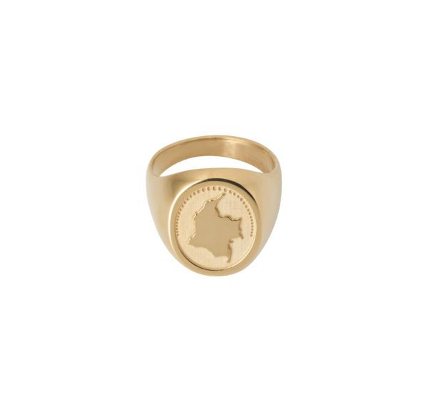 Unspoiled Jewels Rings  Singet RingsColombia Gold-plated Silver