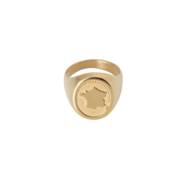 Unspoiled Jewels Rings  Singet RingsFrance Gold-plated Silver
