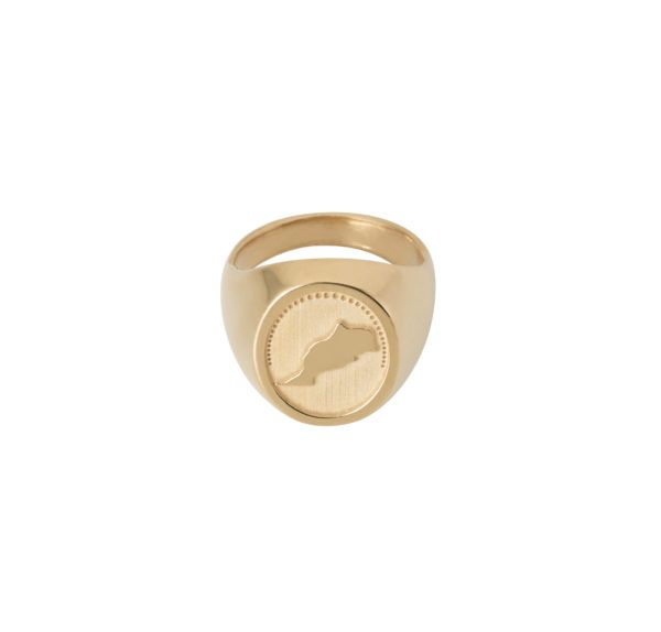 Unspoiled Jewels Rings  Singet RingsMorocco Gold-plated Silver