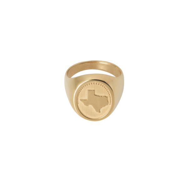 Unspoiled Jewels Rings  Singet RingsTexas Gold-plated Silver