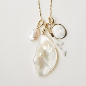 By Pariah Necklaces  PendantsPearl in Mother of Pearl
