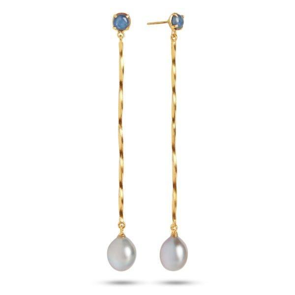 Carré Jewellery Earrings  THE TWISTGoldplated Earrings