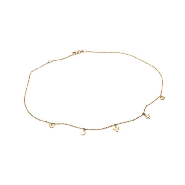 With Love Darling Necklaces  ChokersMiniature Charm Choker