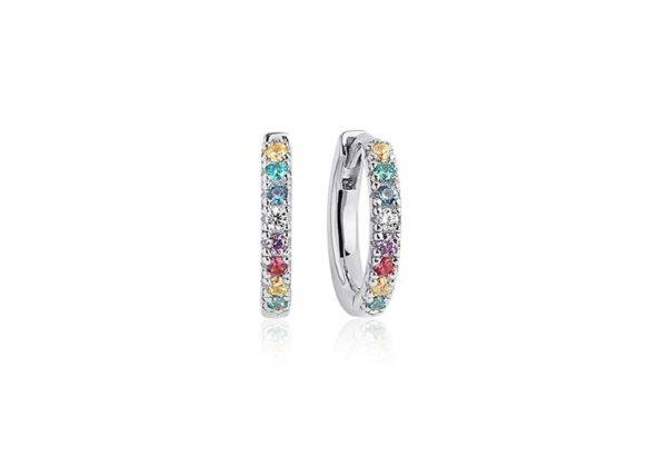 Sif Jakobs Jewellery Earrings Hoops  ELLERAEarrings with multicoloured zirconia.