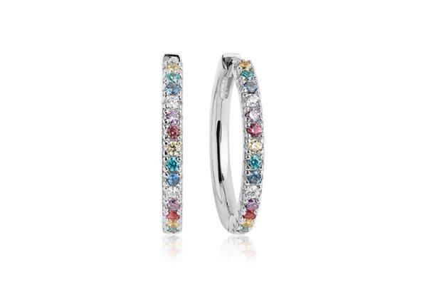 Sif Jakobs Jewellery Earrings Hoops  ELLERAEarrings Grande with multicoloured