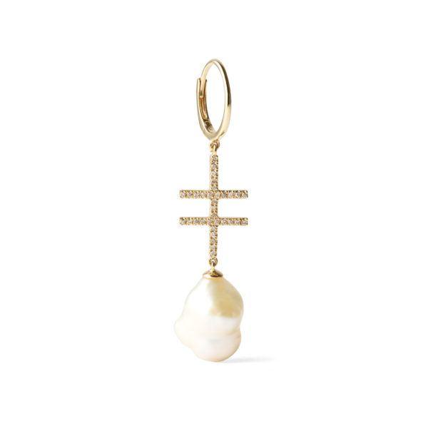 By Pariah Earrings  EarringsDouble Crossing with Pearl