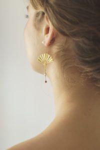 Polar Jewelry Earrings  Sakura CollectionHanging Fan