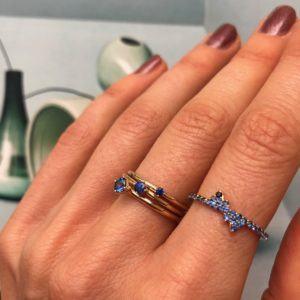 Anpé Atelier cph Rings  Scandinavian SimplicityMalene Blue Sapphire 2.5 ring