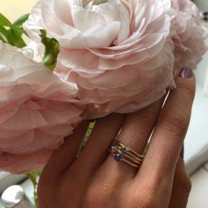Anpé Atelier cph Rings  Scandinavian SimplicityMalene Emerald 2.5 ring