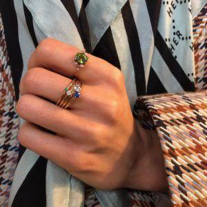 Anpé Atelier cph Rings  Scandinavian SimplicityMalene Emerald 1.8 ring