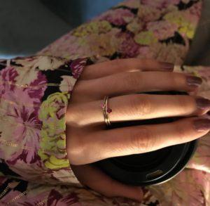 Anpé Atelier cph Rings  Scandinavian SimplicityMalene Pink Sapphire 1.8 ring