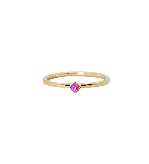 Anpé Atelier cph Rings  Scandinavian SimplicityMalene Pink Sapphire 2.5 ring