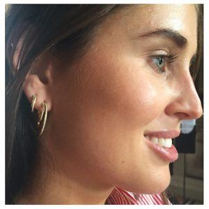 Georg Jensen Earrings Hoops  HaloHalo Earhoop - 13,5 mm