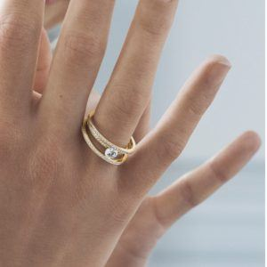 Georg Jensen Rings  HaloHalo Solitaire Ring