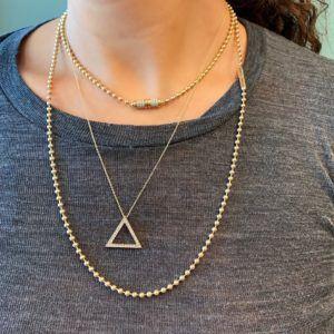 Haniel Jewelry Necklaces  NecklacesTriangle Whitegold Pendant