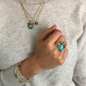 Amanda Marcucci Rings  EgyptKhepri Turquoise Scarab