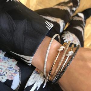 Engelbert Bangles Bracelets  Knot CollectionAbsolutely Knot Pavé