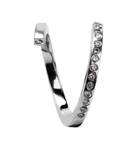 Haniel Jewelry Rings  RingsTwist Ring with Diamonds