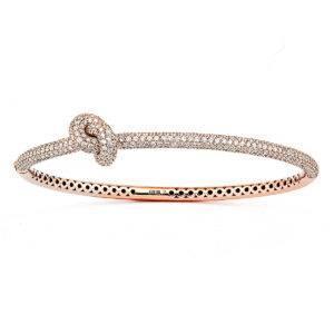 Engelbert Bangles Bracelets  Knot CollectionAbsolytely Knot Full Pavé