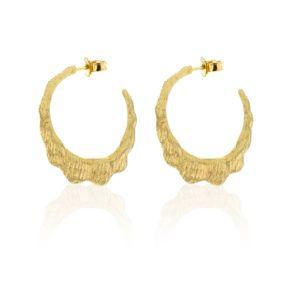 Hasla Jewelry Earhoops  SeashellCreation gold earhoops