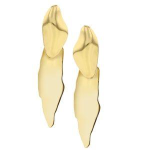 Hasla Jewelry Earrings  PebbleFormed By A Glacier gold earrings