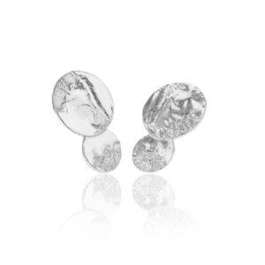 Hasla Jewelry Earrings  SpaceSolar System midi silver earrings