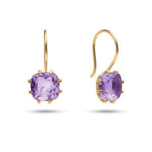 Carré Jewellery Earrings  GEM CANDYGoldplated Earrings Amethyst