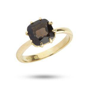 Carré Jewellery Rings  RainbowGold Ring Smokey Quartz