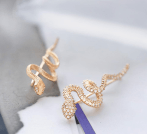 Ole Lynggaard Copenhagen Earrings  SnakesSnake Earring Pavé