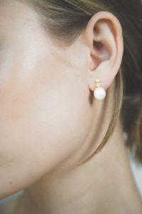 Polar Jewelry Earrings  Tarot CollectionThe Star Pearl Earrings