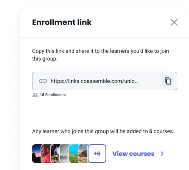 groups enrollment