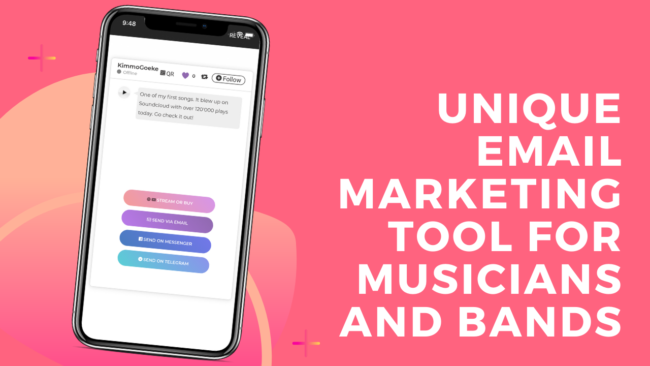 Email marketing app for musicians
