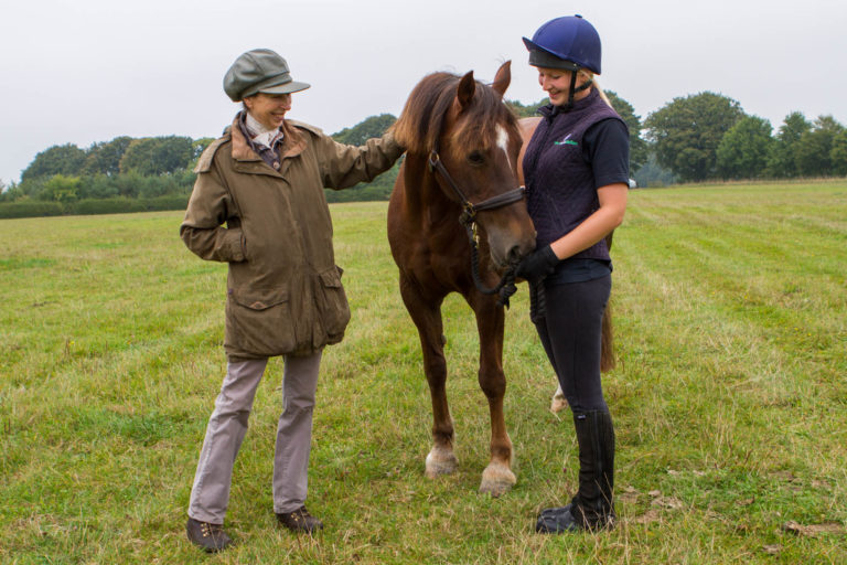 HRH The Princess Royal kick starts World Horse Welfare's rehoming campaign in the midst of a horse crisis by rehoming charity horse