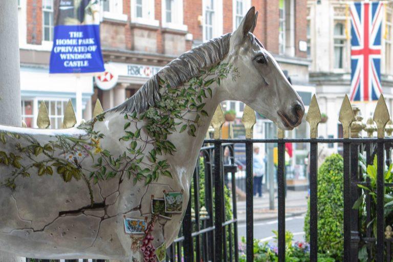 Herd of horse sculptures gallops into town