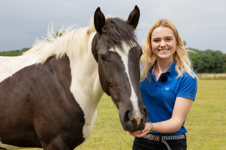 YouTube star This Esme visits World Horse Welfare