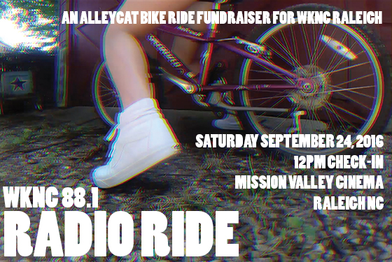 WKNC Radio Ride Saturday, Sept. 26 at Mission Valley Cinema