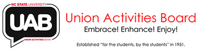 "Union Activities Board. Embrace! Enhance! Enjoy! Established ""for the students, by the students"" in 1951."