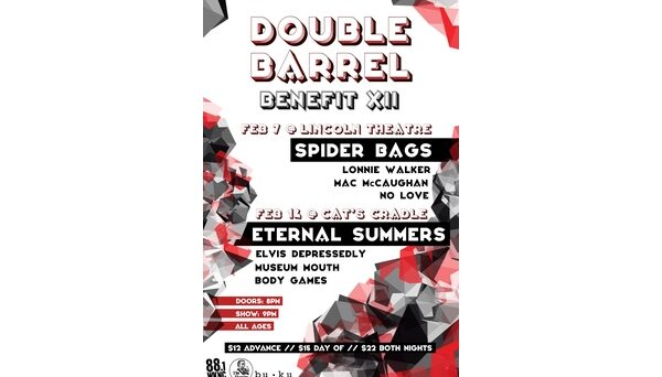 Double Barrel Benefit 12 poster designed by Kaanchee Gandhi