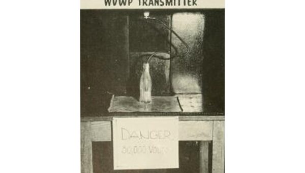 WVWP transmitter, as pictured in the 1953 Agromeck.